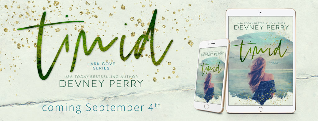 COVER REVEAL ~ TIMID (Lark Cove Book 2) by Devney Perry