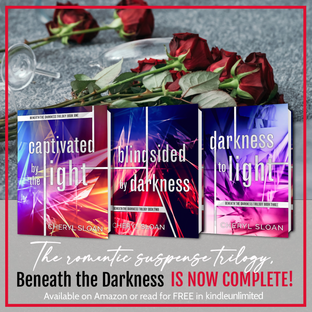 BookBrushImage 2020 8 25 15 2518 Darkness to Light by Cheryl Sloan: Complete Trilogy Now Available